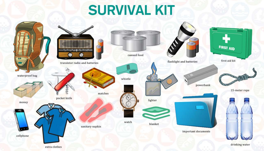 Survival Kit for Disaster and Emergency